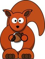 Beautiful cartoon squirrel clipart