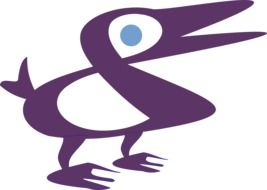 Clipart of Purple duck with blue eye