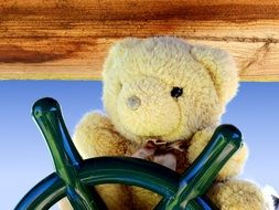 teddy bear in the ship