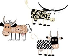 Cute cows clipart