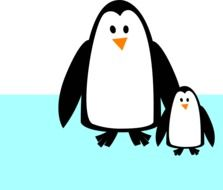 Clipart of the cartoon penguins