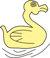 Duck Yellow cartoon drawing