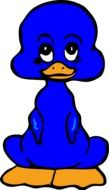 Duckling Blue Cute drawing