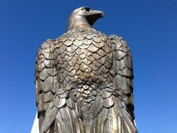 bronze statue bald eagle