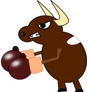 animated boxing bull