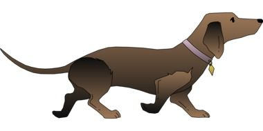 Clipart of Brown Dog