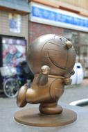 small statue of cute doraemon