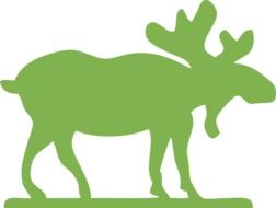 Green male Moose silhouette