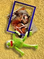 picture frame with kermit