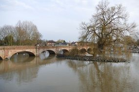 bridge over the river in the city of Stratford-upon-Avon