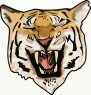 tiger\'s mouth drawing