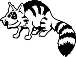 Black and white racoon clipart