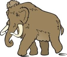 mammoth as a graphic illustration