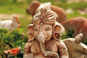 figurine of an elephant in india