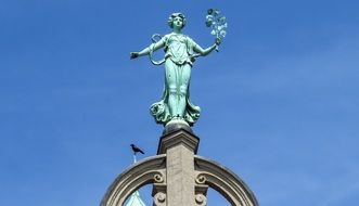 Statue woman on Roof