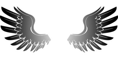 Clipart of black Wings