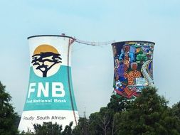 painted cooling towers in South Africa