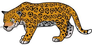 big jaguar as a graphic image