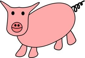 graphic image of a cute pink pig