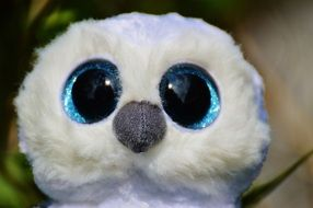 portrait of a snowy owl soft toy