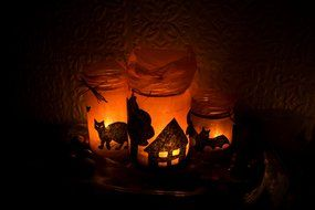 Halloween Light Candles drawing