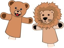 Puppets Finger Bear drawing