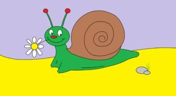 graphic image of a funny snail