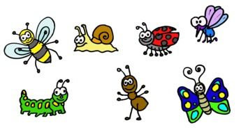 drawn cartoon insects