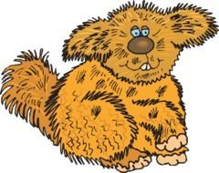Clipart,picture of brown creature