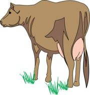Cow Brown drawing