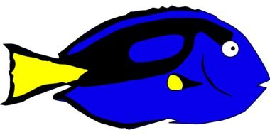 blue fish as a graphic image