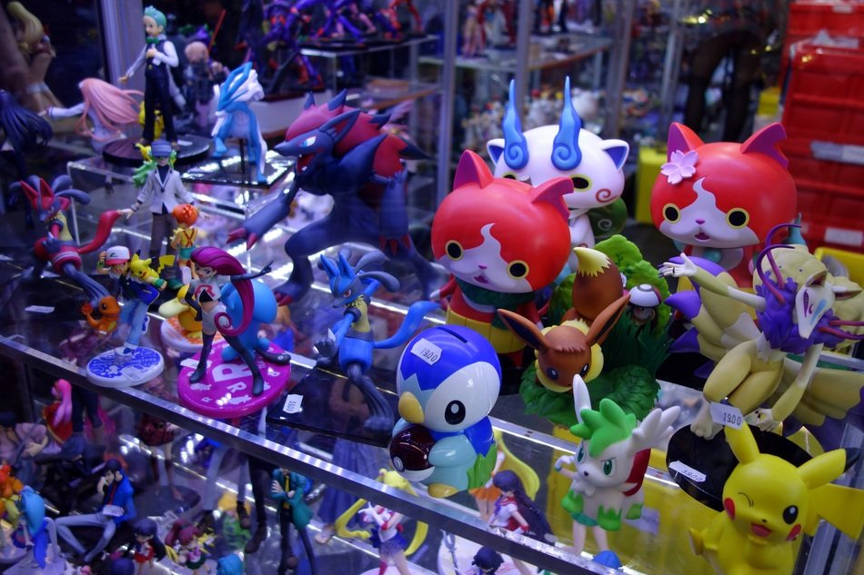 colorful anime toys
