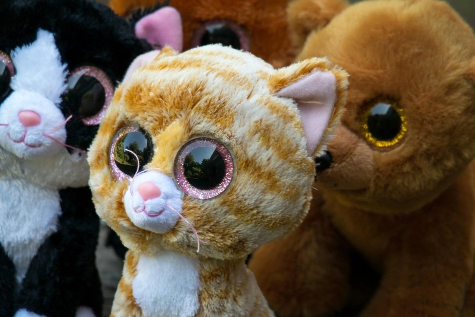 soft toys in the form of animals