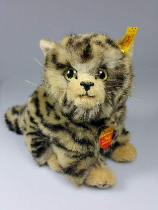 soft toy of a tabby cat