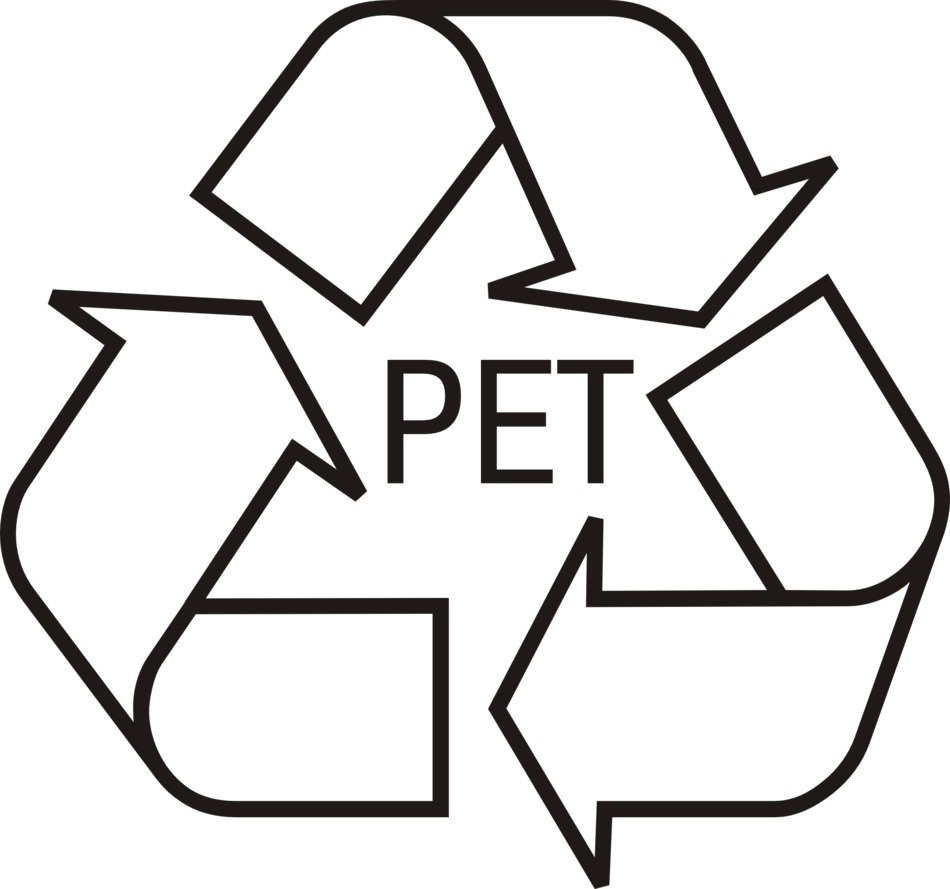 black and white recycling logo