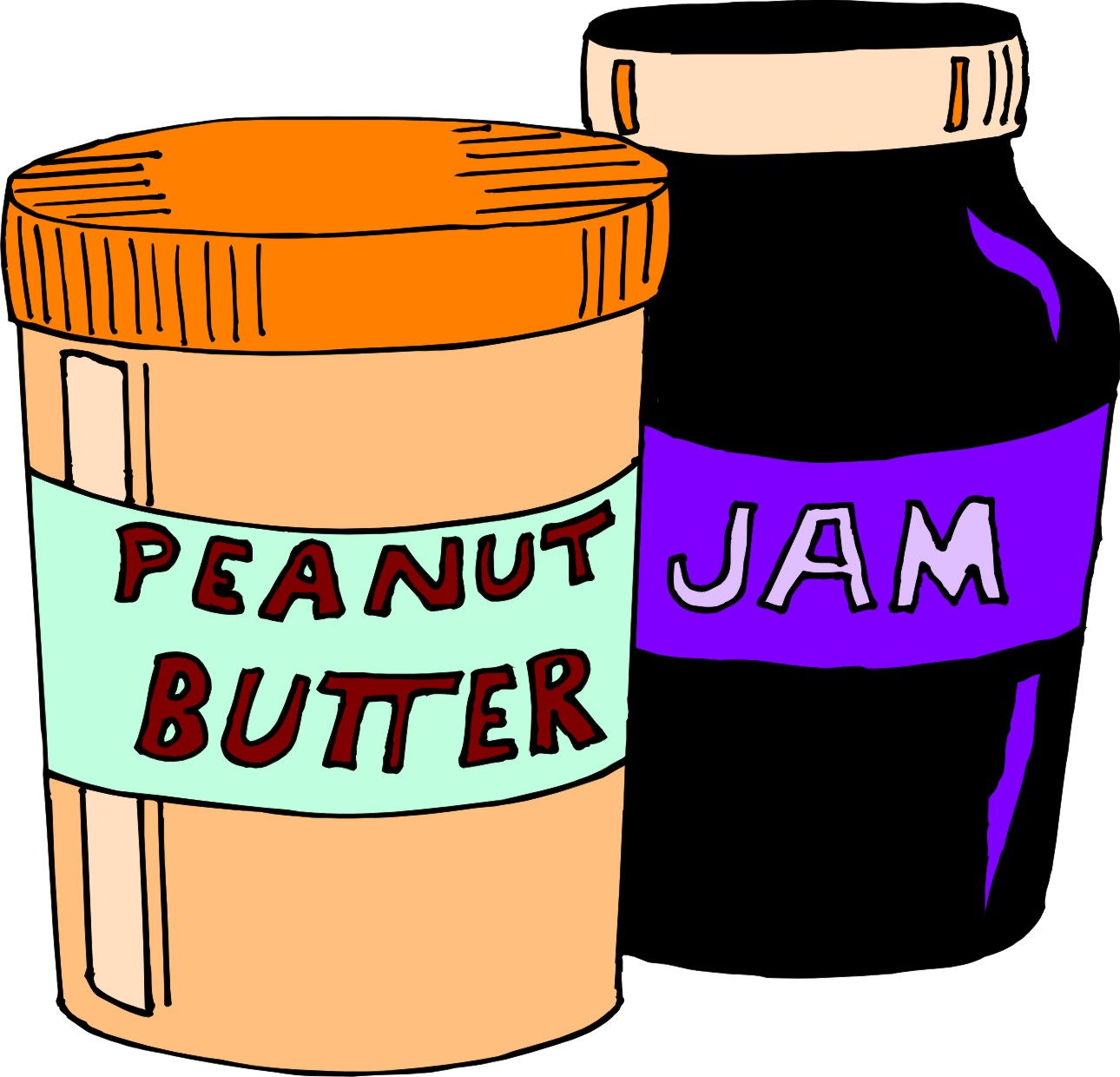 peanut butter jelly clip art free image rh pixy org
