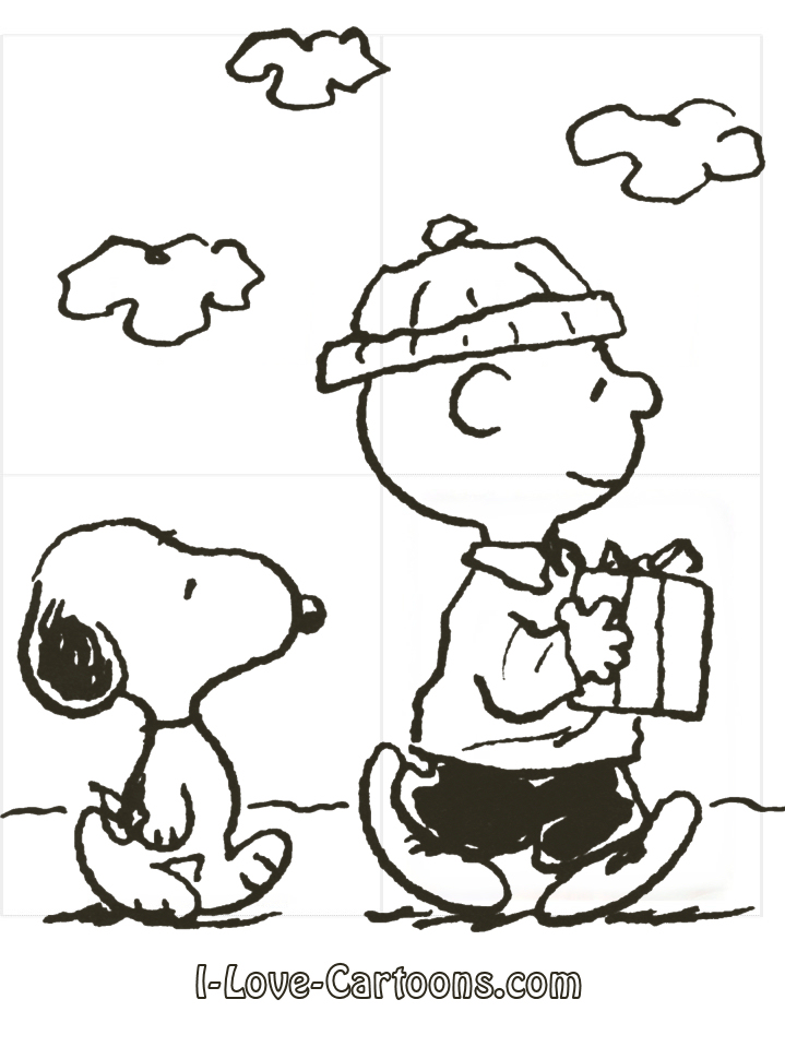 Charlie Brown Christmas Coloring Pages Free Image