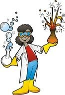 Clipart of Science woman