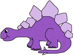 purple Dinosaur Clip Art drawing