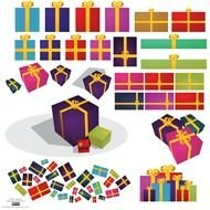 Colorful Christmas gifts clipart