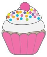 Happy Birthday pink Cupcake drawing
