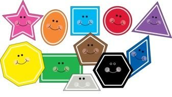 Different smiling shapes clipart