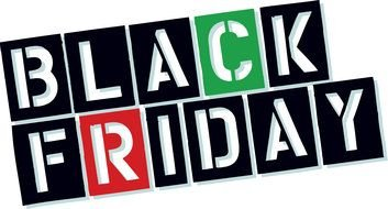 Black Friday, cutout lettering