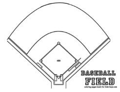 Blank Baseball Field Diagram