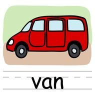 clipart of the red van