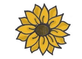 sunflower on black as a graphic illustration