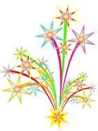Free Clip Art Fireworks Celebration drawing