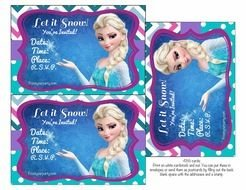 Disney Frozen Party Invitations drawing