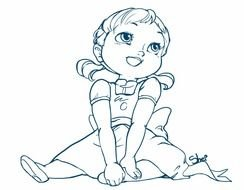 Little Anna From Frozen drawing