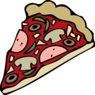 Pizza Slice Clip Art drawing